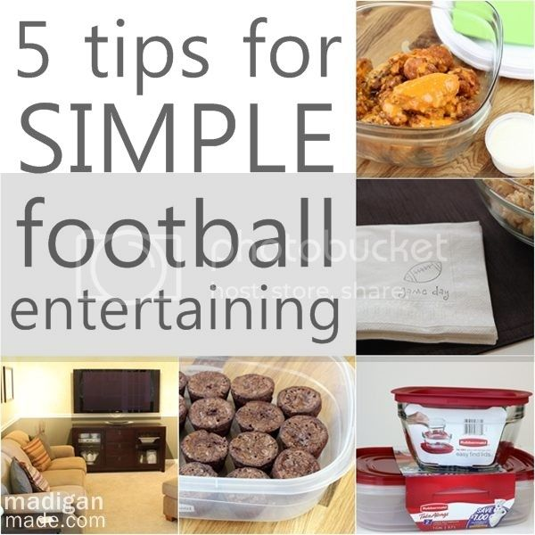 simple football entertaining tips 0 zps017d1fd1 Quick and Easy Recipes for your Super Bowl Party