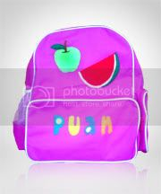 tas anak,ransel,flanel,lucu,gambar,buah