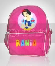 tas anak,snow white,flanel,cewek