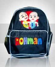 tas,gambar,upin ipin,ransel,anak,flanel